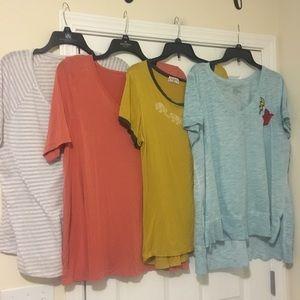 4 Lane Bryant 18/20 Plus Size Blouses Shirts